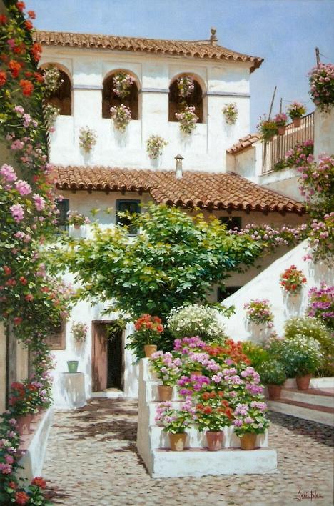 Jes s fern ndez pintor patios andaluces - Imagenes de patios andaluces ...