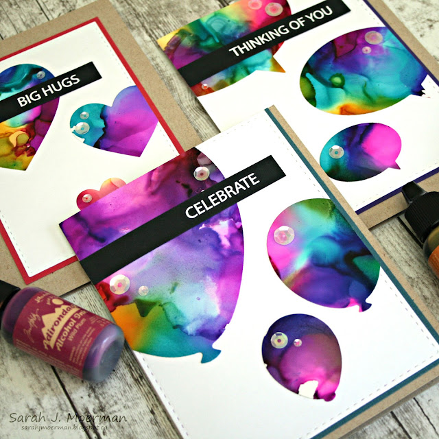 my impressions  simon says stamp alcohol ink shapes