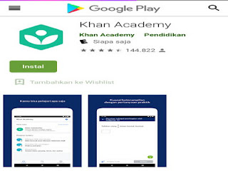Khan Academy aplikasi mencari materi pelajaran online