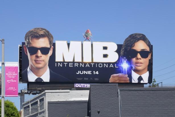 Men in Black International movie billboard