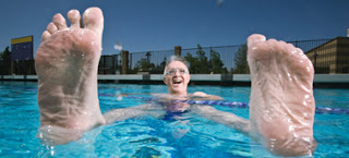 Keep elderly clients' toes dry