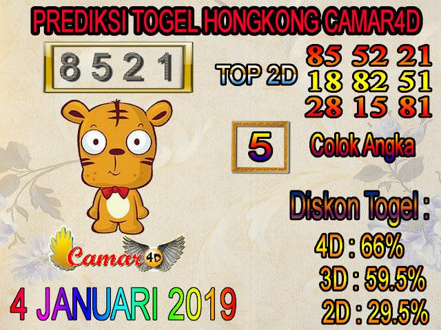 Prediksi Togel Hongkong 4 Januari 2019