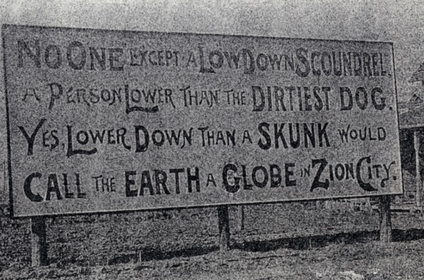 An old sign in Zion, IL.