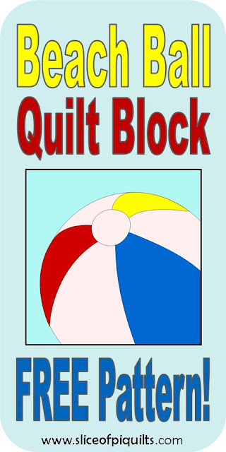 FREE Beach Ball quilt block pattern