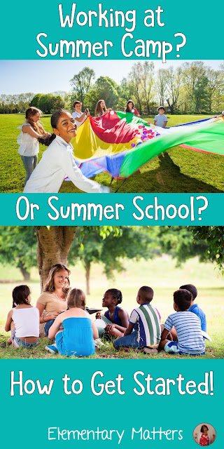 Working Summer Camp? Or Summer School? How to Get Started! Whether you're a camp counselor, summer day care leader, or summer school teacher, here are some fun ideas to get you started this summer! This blog post includes a Team Building Freebie!