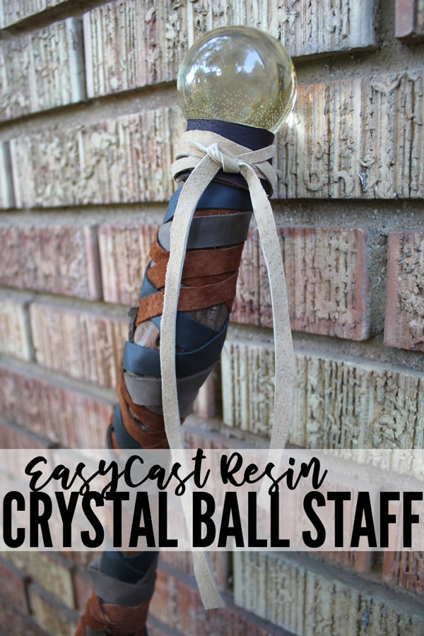 Full tutorial for a Crystal Orb Scepter made with Resin. This amazing crystal orb scepter is the perfect addition to a costume or cosplay. A Wizard, Warlock, Sage, Witch, Sorcerer, Mage, Enchanter, or Necromancer would all be excited to hold a staff like this. This could be used by an Adventurer, Druid, Plague Doctor, or just as an exotic walking stick.