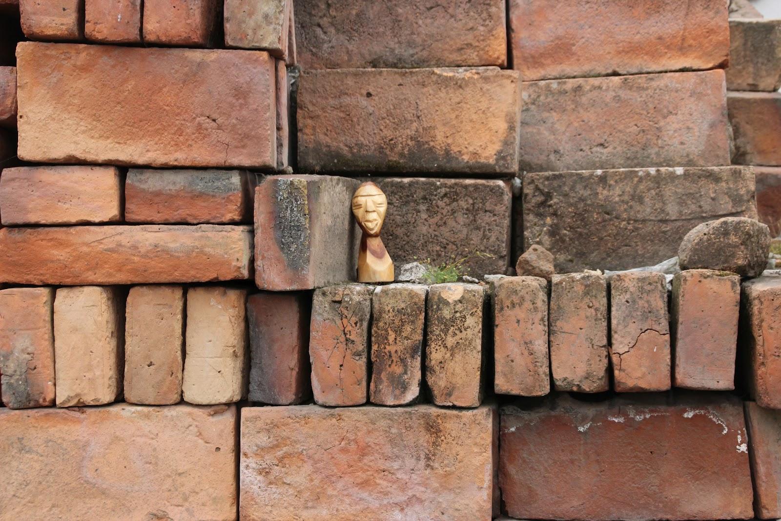 The Mr. Hunter Wall: Textures of Ecuador: A Pile of Bricks
