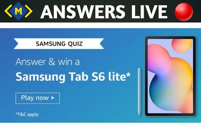 Amazon Quiz Contest Answers -Win Samsung Tab