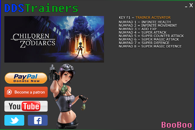 Children Of Zodiarcs Trainers and Cheats for PC