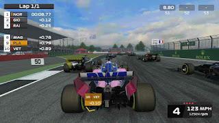 تحميل لعبة f1 mobile racing
