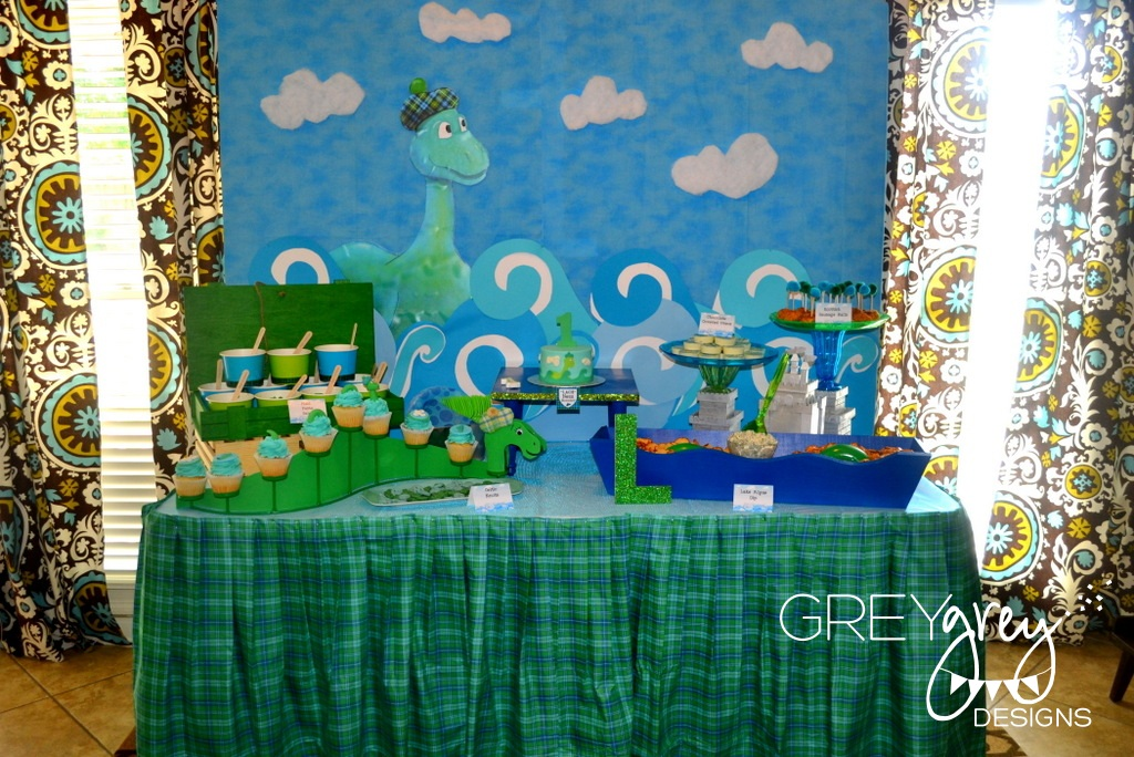 GreyGrey Designs {My Parties} Lachlan\u0027s Loch Ness Monster Party - blue and green birthday party