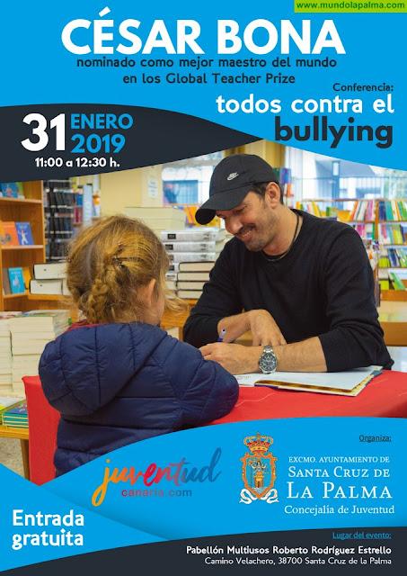 El Ayuntamiento trae a Santa Cruz de La Palma al mejor maestro de España para combatir contra el acoso escolar