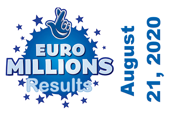 EuroMillions Results for Friday, August 21, 2020