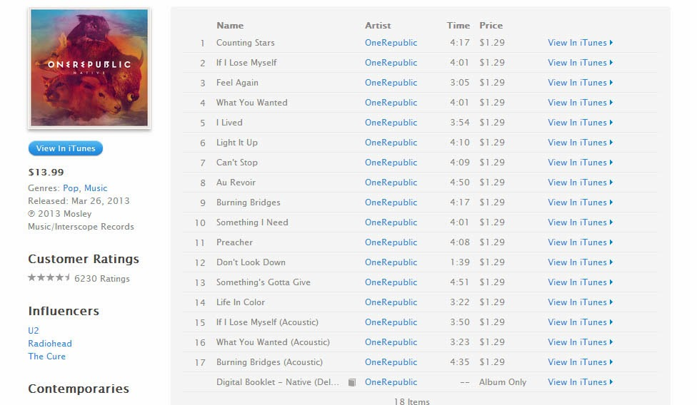 Native | onerepublic – download and listen to the album.