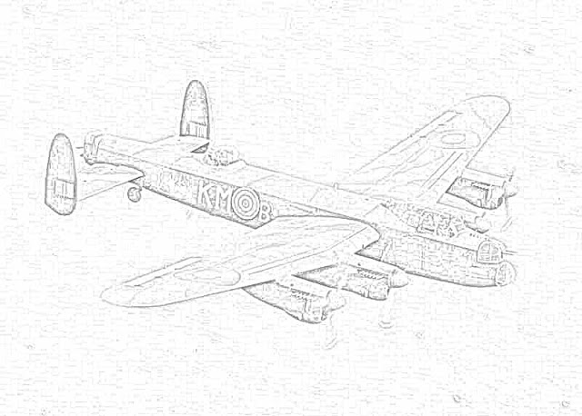 World War II in Pictures: Coloring Pages World War II Bombers