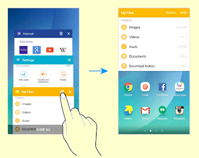 Samsung Galaxy Note 5 Multi window Split screen view