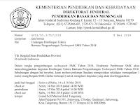 Undangan Bimbingan Teknis Bantuan Pengembangan Technopark SMK Tahun 2018