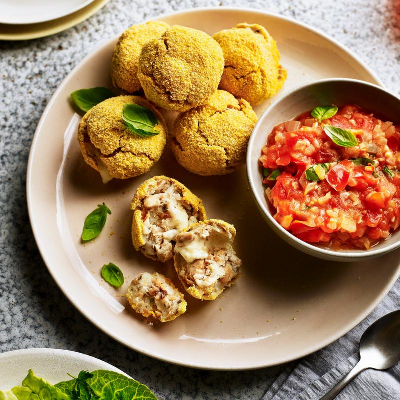 Potato And Salmon Balls With Mozzarella Recipe
