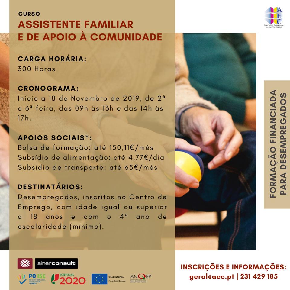 Cursos financiados em Cantanhede e Mira