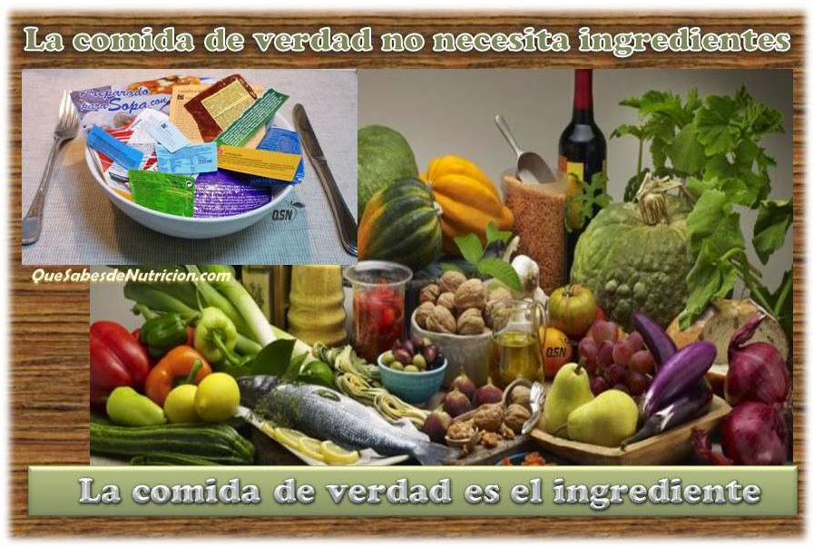 QSN: La comida de verdad no necesita ingredientes, ES EL INGREDIENTE