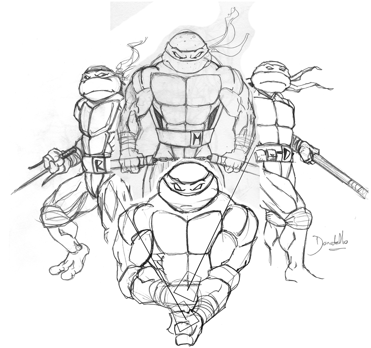 Andrew Fitzgerald Ink: TMNT Stage 1