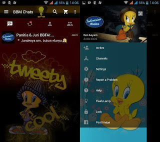 BBM MOD TWEETY v2.11.0.18 Apk