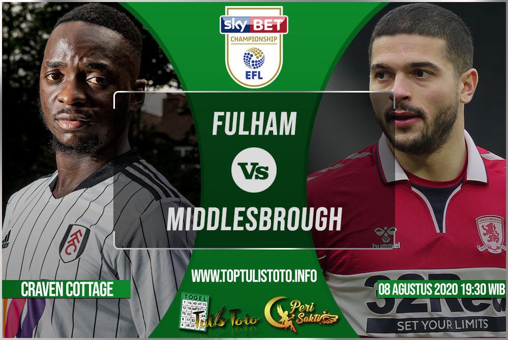 Prediksi Fulham vs Middlesbrough 08 Agustus 2021