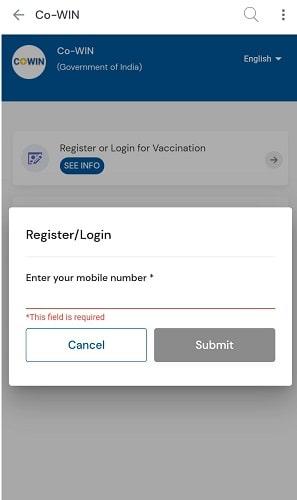 18+ Covid vaccine Registration through Umang App