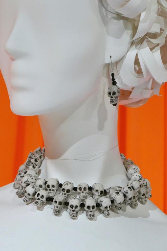 Crazy Ex-Girlfriend skeleton costume skull jewelry