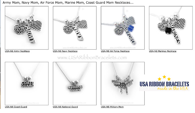 US ARMY Necklace with MOM charm for Mothers