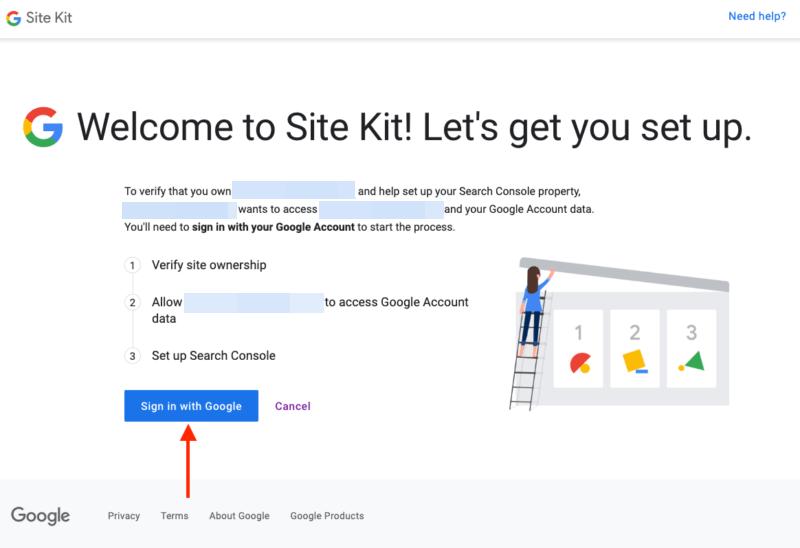 Adding Google Site Kit