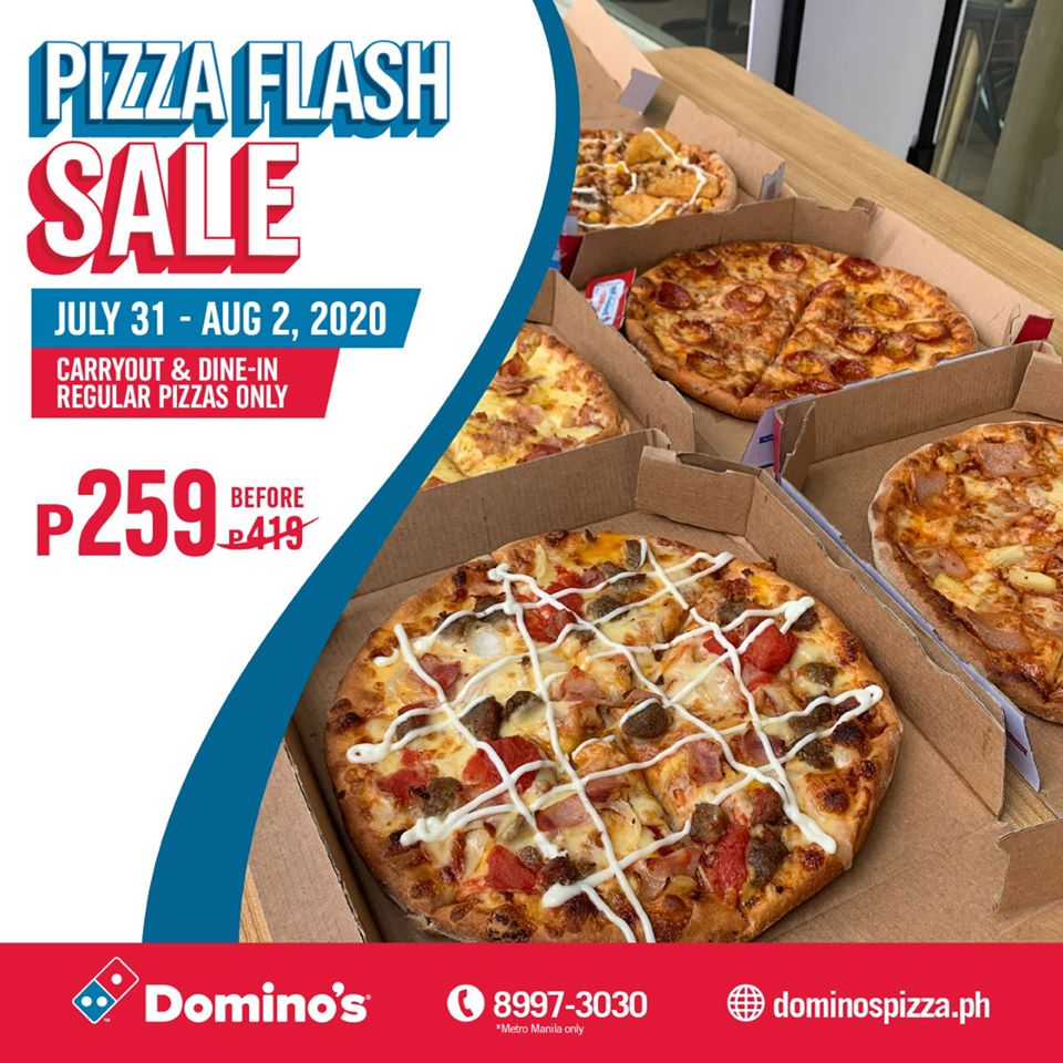 Manila Shopper Domino S Pizza Flash Sale July 31 Aug 2 2020
