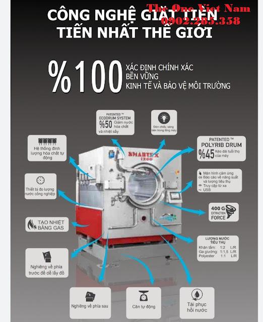 Các công nghệ cho dòng máy giặt công nghiệp.