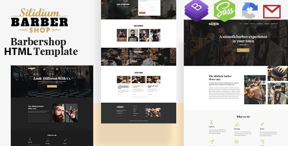 Barber Shop HTML5 Template with RTL