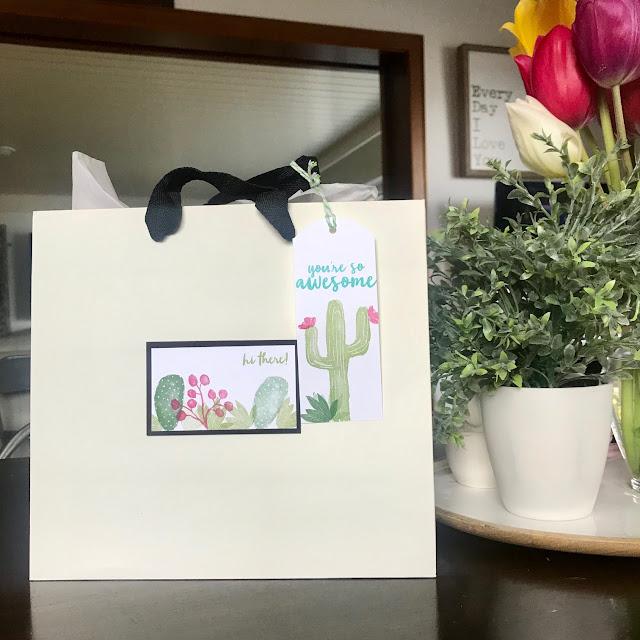 Cactus themed Teacher Gift Idea - Teacher Appreciation - leroylime.com