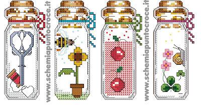 Cross Stitch Bottle