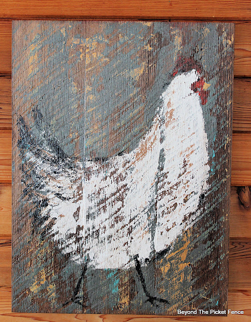 Paint a Rustic Farmhouse Chicken Sign
