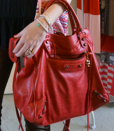 Away From Blue Balenciaga 2011 poppy red coquelicot velo bag