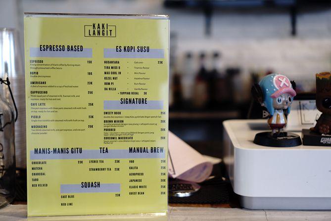 Daftar Menu dan Harga di Kaki Langit Coffee