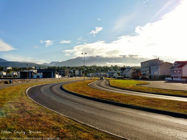 Straße in Akureyri