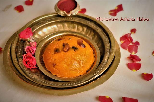 Microwave Ashoka Halwa | Microwave Moong Dhal Halwa