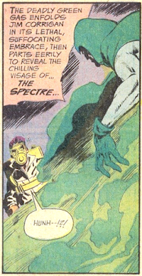 Weird Adventure Comics #436, The Spectre appears from gas
