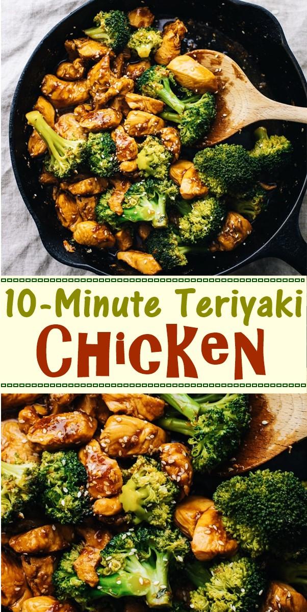 10-Minute Teriyaki Chicken #dinnerrecipes