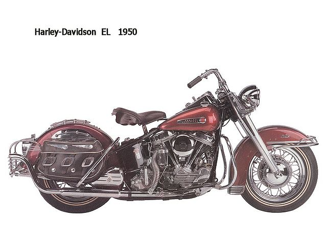 foto de año 1950-Harley-Davidson-EL