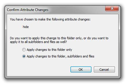 Bấm OK để xác nhận thay đổi