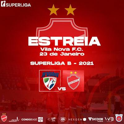 Vila Nova Universo estreia neste sábado na Superliga B