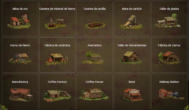 Edificios en prospectors game