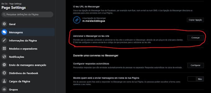 O widget do Facebook de Adicionar o Messenger ao teu site está de volta!