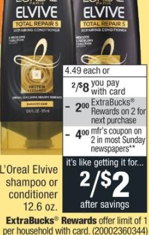 L'Oreal Elvive Shampoo or Conditioner