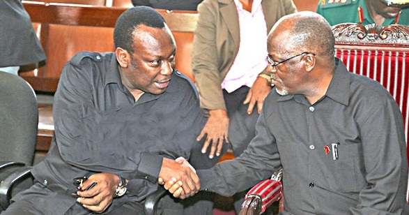 Image result for photos of mbowe and magufuli